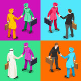 Handshake 05 Isometric People Stock Image