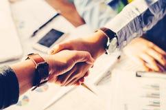 Handshake between joint venture business.  stock images