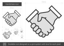 Handshake line icon. Stock Photo