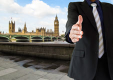 Handshake in London city Royalty Free Stock Images