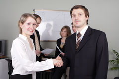 Handshake luck Royalty Free Stock Photo
