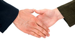 Handshake - making a deal Stock Photos
