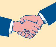 Handshake. Making deal: shaking hands, close up Stock Images