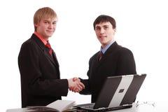 Handshake man Stock Image
