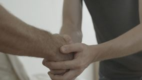 Handshake. Man thanked the worker for the work done.  royalty free stock photos