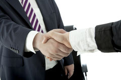Handshake of man and woman Stock Photography