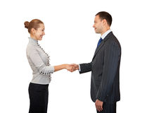 Handshake man and women. Stock Photography