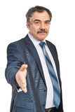 Handshake mature business man Royalty Free Stock Image