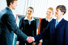 Handshake at meeting Stock Photography