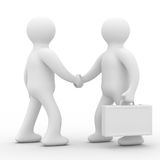 Handshake. Meeting two businessmen. Isolated 3D image Stock Image