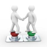 Handshake. Meeting two businessmen Stock Image