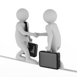 Handshake. Meeting two businessmen Stock Image