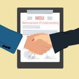 Handshake - Memorandum Of Understanding Royalty Free Stock Images