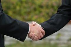 Handshake of men. Handshake of two men at wedding Royalty Free Stock Images