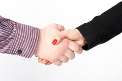 Handshake, men and women Royalty Free Stock Photography