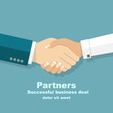 Handshake men and women. Handshake of business people partners b Royalty Free Stock Photography