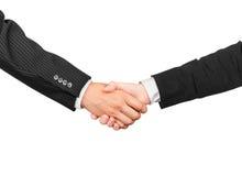 Handshake, men and women Stock Images