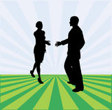 Handshake Message Royalty Free Stock Photography