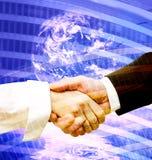 Handshake modern background Stock Photos