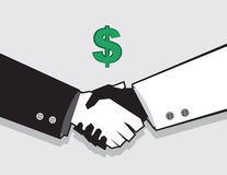Handshake Money Deal Stock Photography
