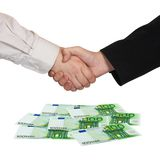 Handshake and money Euro Stock Photography