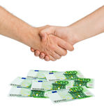 Handshake and money euro Stock Photo