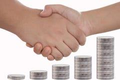 Handshake with Money Stock Photography