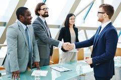 Handshake with new partner Royalty Free Stock Photos