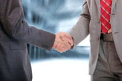 Handshake in office Royalty Free Stock Image