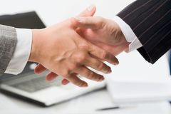 Handshake in office Stock Photos