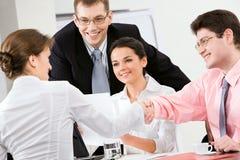 Handshake in the office stock photo