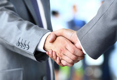 Handshake in office Stock Image