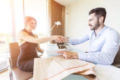 Handshake at Office Stock Photos