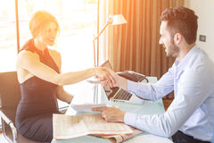 Handshake at Office Royalty Free Stock Photos