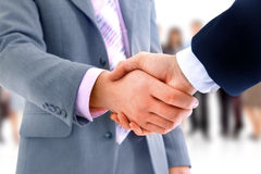 Handshake  over business Royalty Free Stock Image