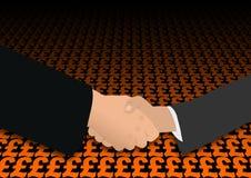 Handshake over pound symbols Royalty Free Stock Photography