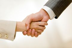 Handshake of partners Royalty Free Stock Photos