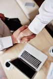 Handshake of partners Stock Photo