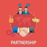 Handshake partnership concept Stock Photos