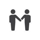 Handshake, partnership icon vector, filled flat sign, solid pictogram isolated on white. Symbol, logo illustration. Pixel perfect Royalty Free Stock Image