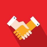 Handshake Partnership Successful business concept. Vector illustration Stock Image