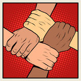Handshake people of different nationalities and races Stock Photography