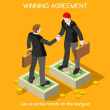 Handshake 02 People Isometric Stock Photography