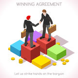 Handshake 03 People Isometric Stock Photo