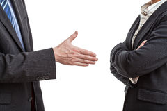 Handshake proposal royalty free stock photography