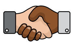 Handshake race relations Royalty Free Stock Images