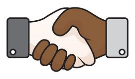 Handshake race relations Stock Images