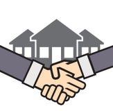Handshake real estate  icon Royalty Free Stock Image
