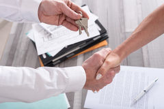 Handshake in a real estate transaction Stock Photography