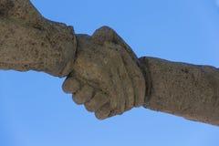 Handshake Realising the hand Stock Images